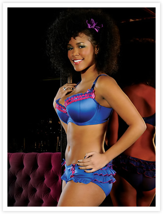 Thrill Me Balcony Bra & Rouched Brief