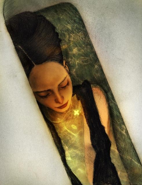 Girl, tub by Albert Lee
