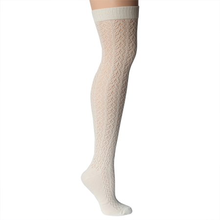 Ruche Crochet Over the Knee Sock