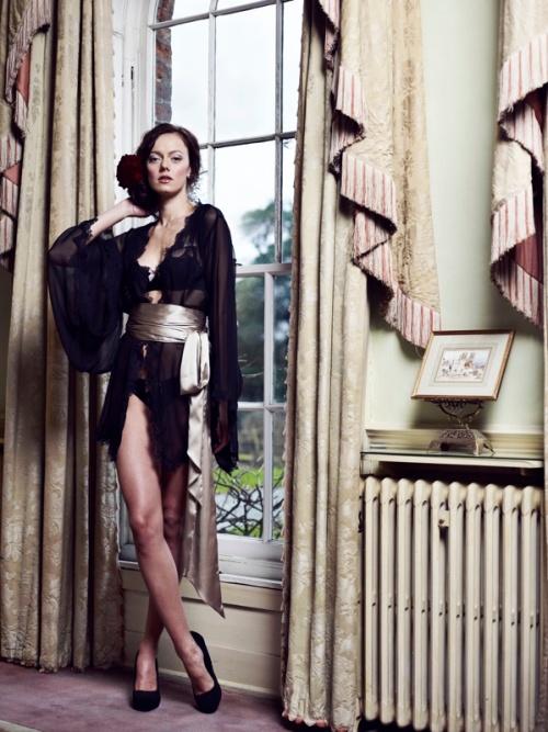 Lucile Lingerie Short Black Kimono